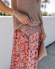 Featherweight Mix Print Floral Maxi Skirt - FINAL SALE view 8