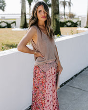 Featherweight Mix Print Floral Maxi Skirt - FINAL SALE view 9