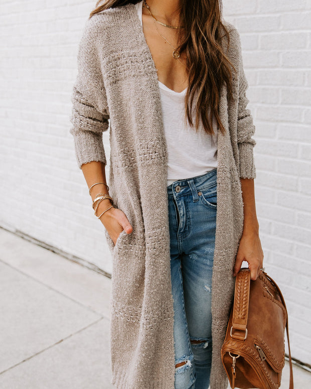 Ghost Town Pocketed Wool Blend Duster Cardigan