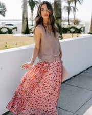 Featherweight Mix Print Floral Maxi Skirt - FINAL SALE view 5