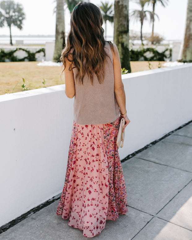Featherweight Mix Print Floral Maxi Skirt - FINAL SALE view 2
