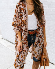 Where Flowers Bloom Velvet Kimono