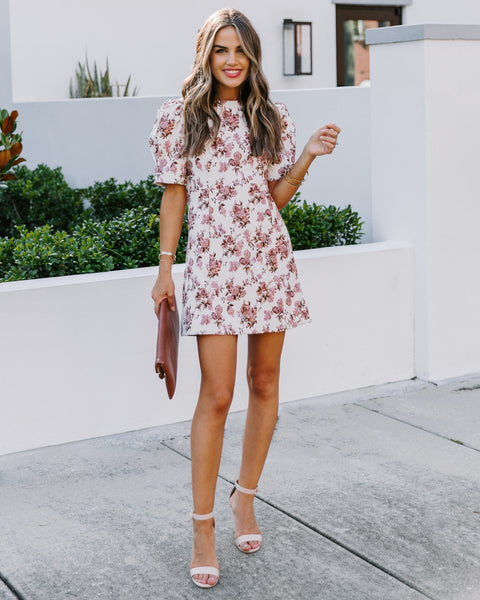 Kiki Floral Puff Sleeve Dress