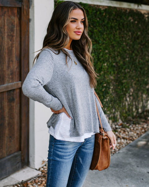 Homestretch Long Sleeve Layered Knit Top