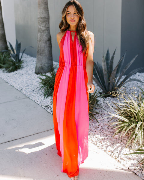 That Special Someone Colorblock Slit Maxi Dress - FINAL SALE