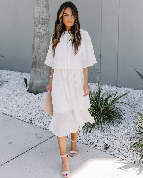 Something Borrowed Tiered Midi Cape Dress