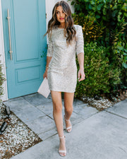 Party Tonight Long Sleeve Sequin Bodycon Dress