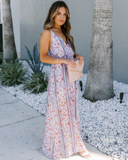 Magic Of The Moment Floral Shimmer Maxi Dress  - FINAL SALE