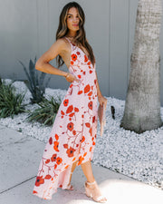 Villa D'este Floral High Low Maxi Dress - FINAL SALE