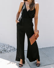Broadway Pocketed Flare Jumpsuit - FINAL SALE