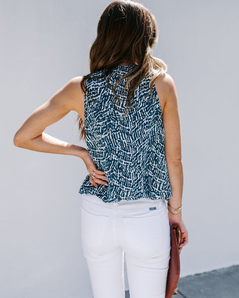 Business Or Leisure Sleeveless Blouse - Teal - FLASH SALE