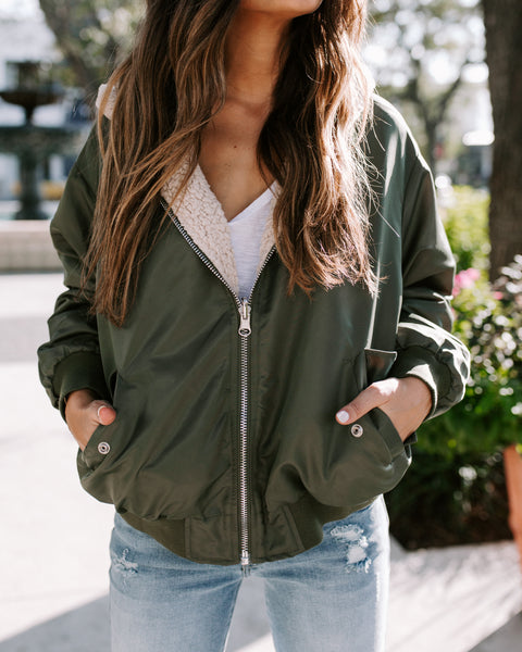 Undivided Attention Pocketed Reversible Bomber Jacket - FINAL SALE
