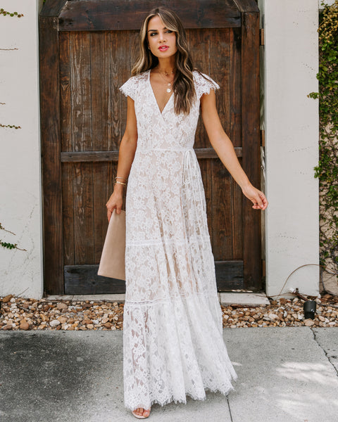 Steadfast Love Lace Wrap Maxi Dress