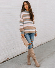 Take My Hand Striped Knit Sweater view 1