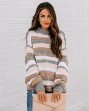 Take My Hand Striped Knit Sweater view 3