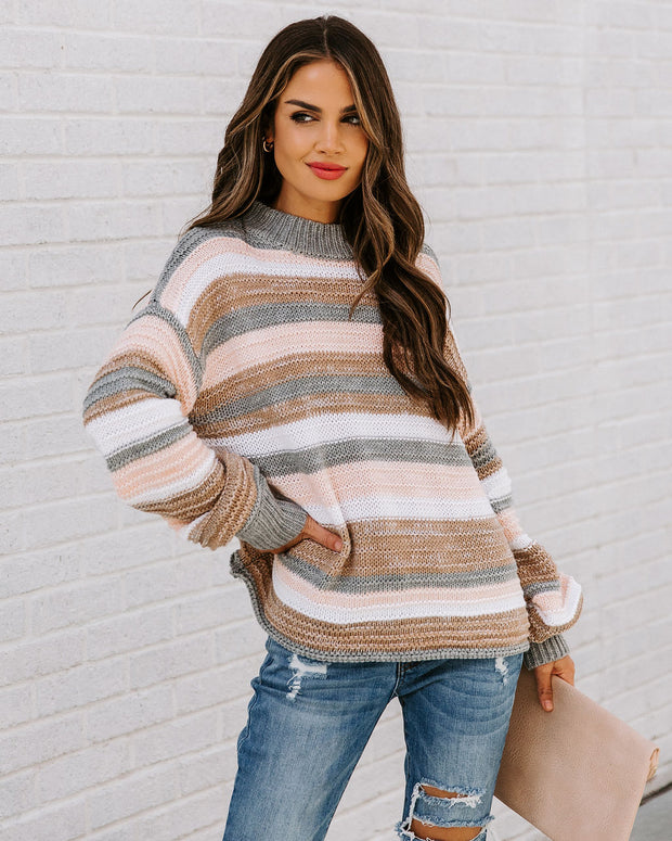 Take My Hand Striped Knit Sweater view 5