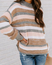 Take My Hand Striped Knit Sweater view 6