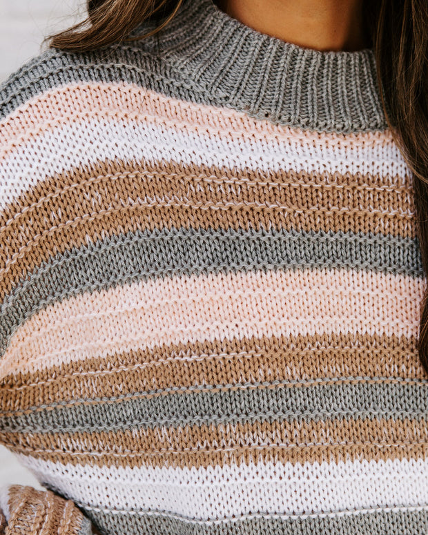 Take My Hand Striped Knit Sweater view 4
