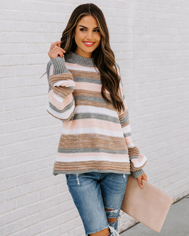Take My Hand Striped Knit Sweater view 8