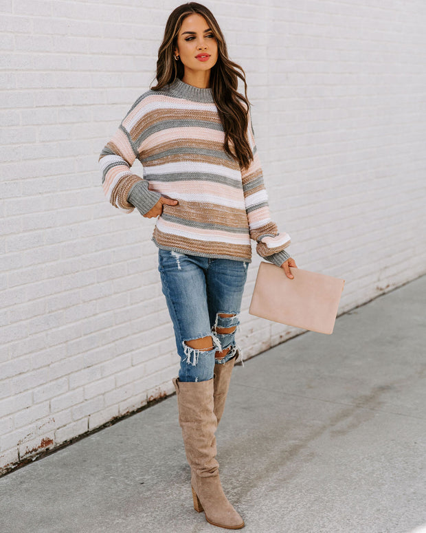 Take My Hand Striped Knit Sweater view 7