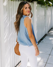 Pack A Picnic Frayed Tencel Tank  - FINAL SALE