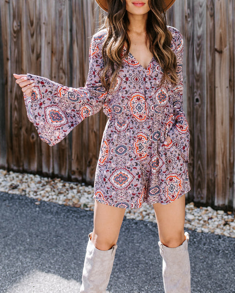 Stick Around And See Pocketed Romper - FINAL SALE