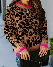 Quick Fix Knit Leopard Sweater