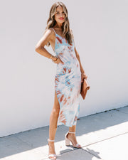 Fan Favorite Tie Dye Slip Midi Dress