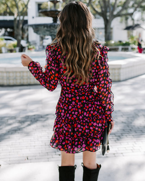 Ambrosia Floral Ruffle Tiered Dress