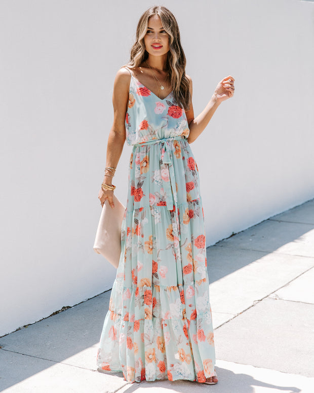 Caleb Floral Tiered Maxi Dress