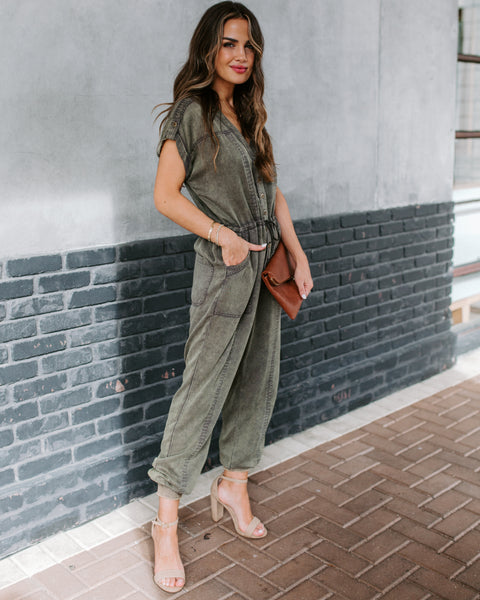 Long Distance Pocketed Tencel Jumpsuit