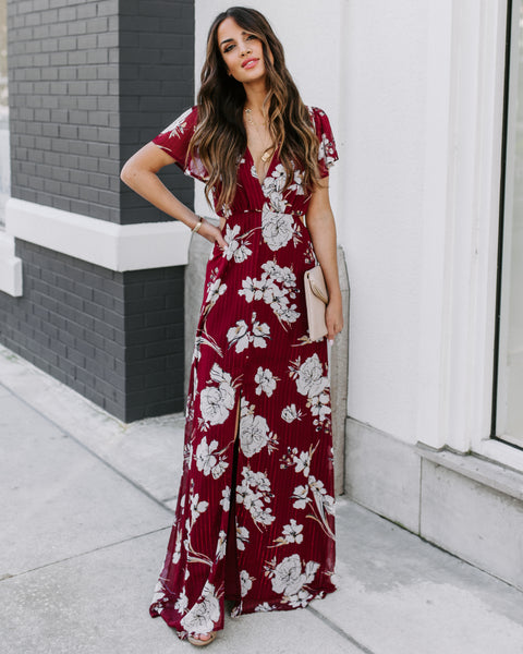 Sweetgrass Shimmer Cutout Maxi Dress