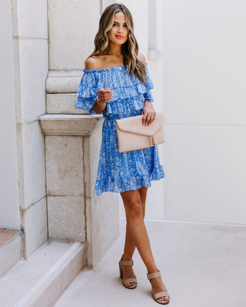 Sooner Or Later Off The Shoulder Ruffle Dress