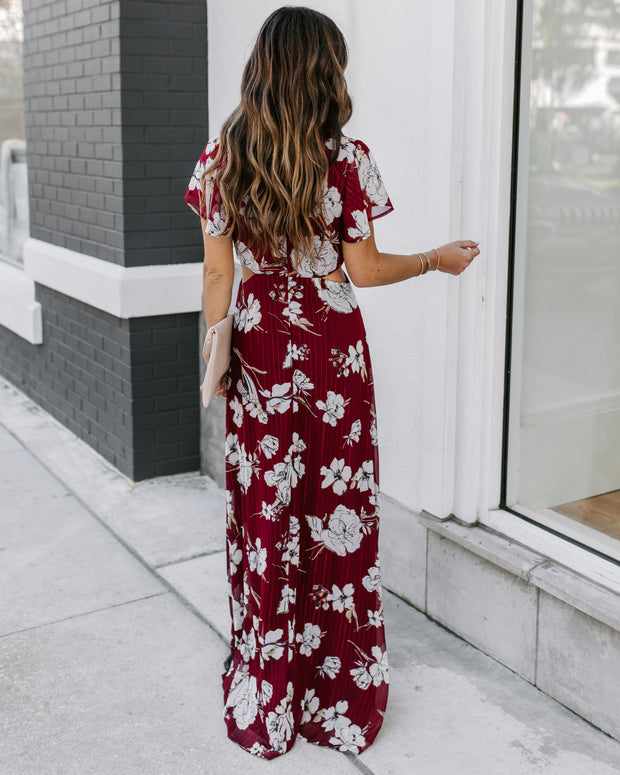 Sweetgrass Shimmer Cutout Maxi Dress - FINAL SALE