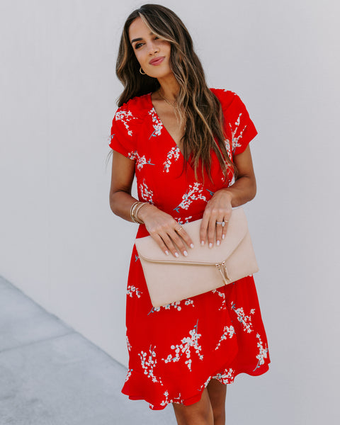 To Be Smitten Floral Wrap Dress
