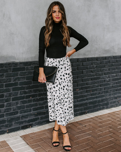 Spike Leopard Midi Skirt - FINAL SALE