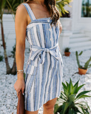 Shawn Cotton + Linen Pocketed Striped Dress - FINAL SALE