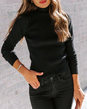 Highrise Ribbed Turtleneck Sweater