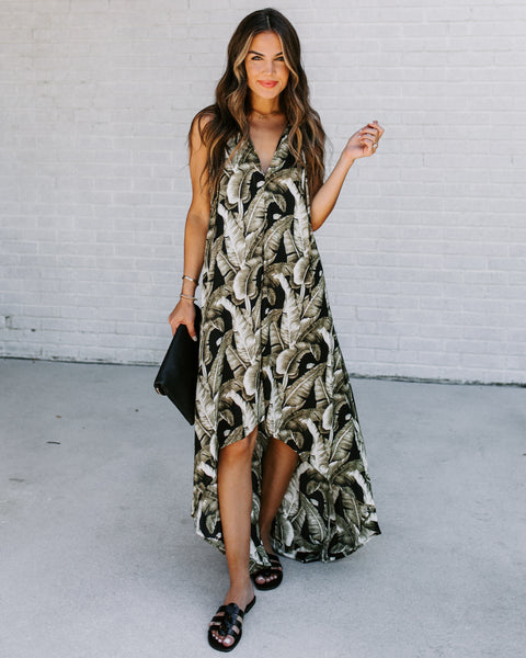 Palms In La High Low Maxi Dress