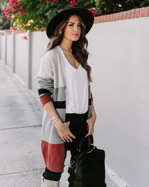 Ulysses Striped Knit Cardigan