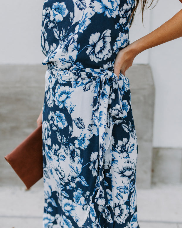 Punta Cana Floral Wrap Midi Skirt - FINAL SALE
