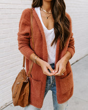 Clifford Pocketed Fuzzy Knit Cardigan