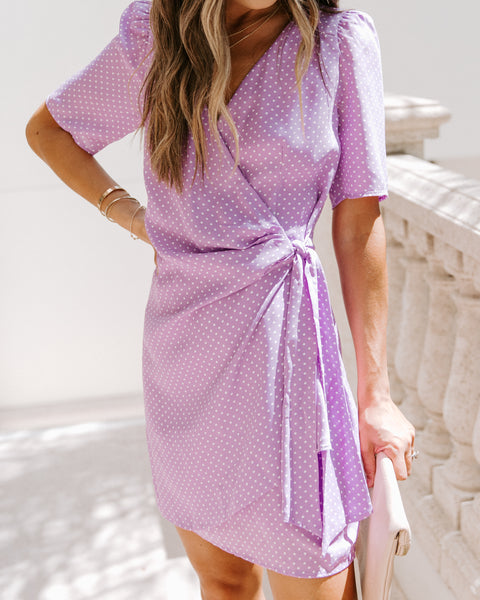 Stay Blessed Polka Dot Tie Dress