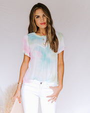 Babylon Tie Dye Short Sleeve Top- FINAL SALE view 1
