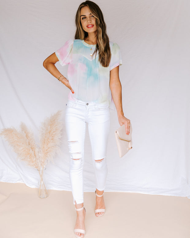Babylon Tie Dye Short Sleeve Top- FINAL SALE view 5