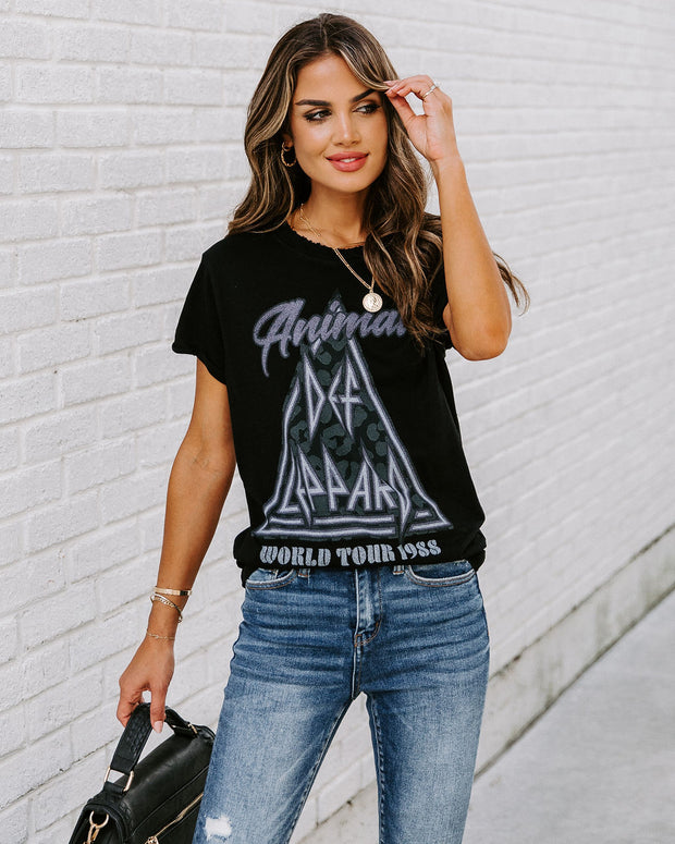 Take Me On Tour Cotton Distressed Def Leppard Tee