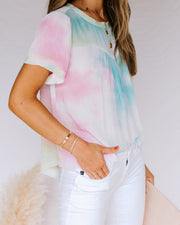Babylon Tie Dye Short Sleeve Top- FINAL SALE view 3