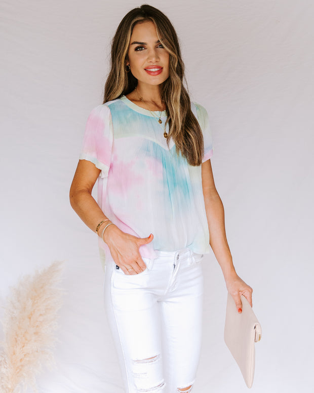 Babylon Tie Dye Short Sleeve Top- FINAL SALE view 7