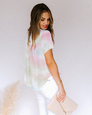 Babylon Tie Dye Short Sleeve Top- FINAL SALE view 9