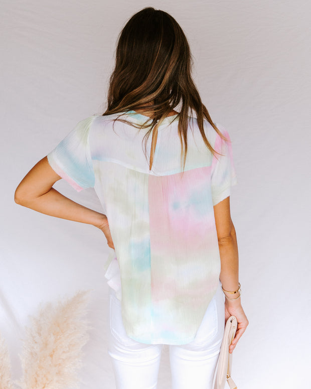 Babylon Tie Dye Short Sleeve Top- FINAL SALE view 2
